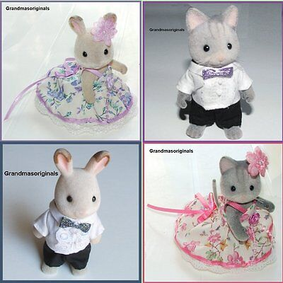 NEW clothes for Sylvanian Families - PARTY/PROM DRESS 4 MUM / + OUTFIT FOR DAD