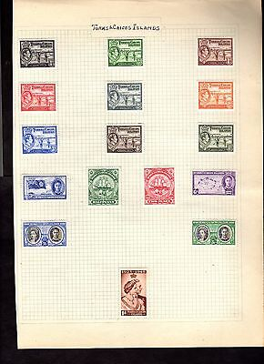 Stamps ~ TURKS & CAICOS ISLANDS High Values MM ~ Early