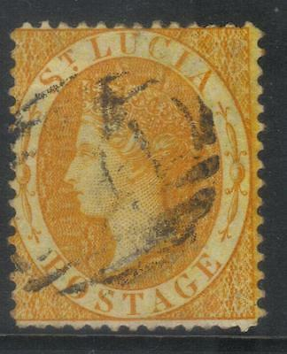 St Lucia 1864-1876 Crown Cc Sg16 Used Cat £24