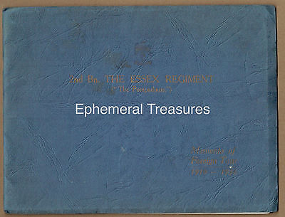1936 2nd Bn Essex Regiment Well Illustrated Commemorative Tour Booklet