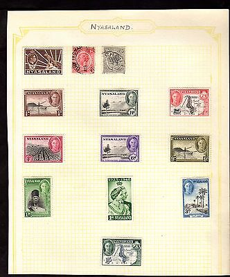 Stamps ~ NYASALAND Including 1/- ONE SHILLING ~ Early