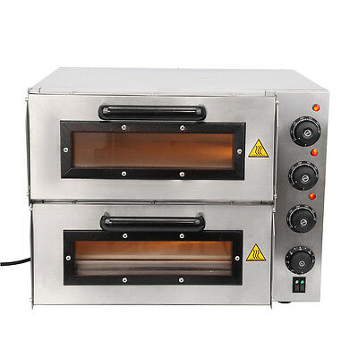 Double Deck Commercial Restaurant Electric Pizza Baking Oven Large Home Party