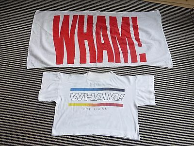 wham george michael   amazing 1985 the final concert  WHITE cropped  t shirt