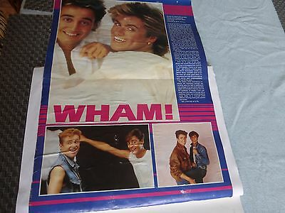 wham george michael early scrapbook  crammed pictures/interview/ pictures