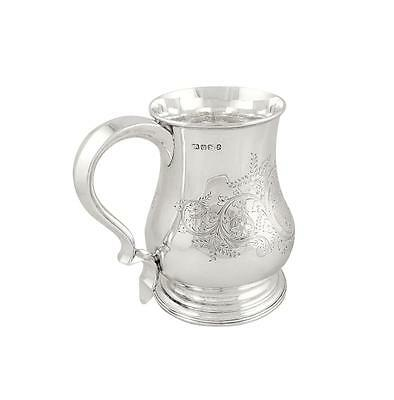 Super Antique Victorian Sterling Silver Pint Mug/tankard - 1897