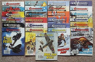 COMMANDO War Picture Library: 25 issues between 2412 (1990) & 2470 (1991) 35p.