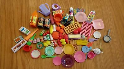 *Barbie Bundle Of  Dolls Food & Accessories For Kitchen Dolls House Etc*