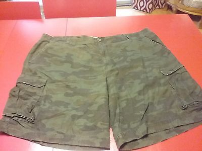 Mens route 66 camouflage cargo disstressed  Shorts - Men's Big & Tall Size 48