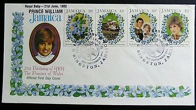 Jamaica 1982 Royal Baby Prince William Princess Diana SHS Kingston 20c/$2