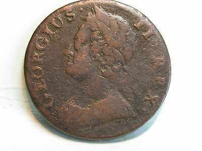 George Ii Copper Half-Penny Coin Dated 1745
