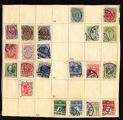 Stamps ~ DENMARK DANISH ~ Early Unsorted