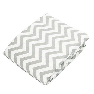 Kushies Change Pad Fitted Sheet - Grey Chevron