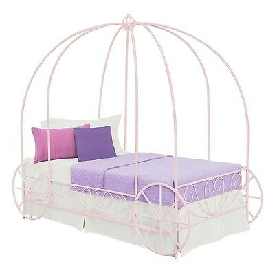 DHP - Twin Carriage Bed, Pink