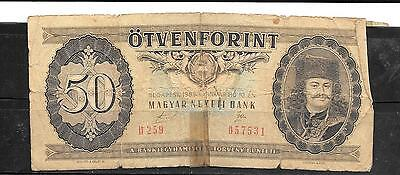 HUNGARY #170h 1989 GOOD CIRC 100 FORINT OLD BANKNOTE PAPER MONEY CURRENCY NOTE
