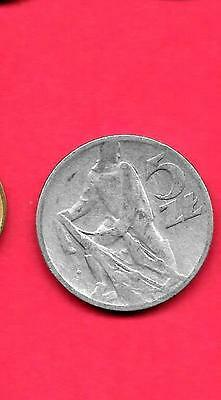 Poland Polish Y47 1959 Old Vintage Fine-Nice Large Aluminum 5 Zlotych Coin