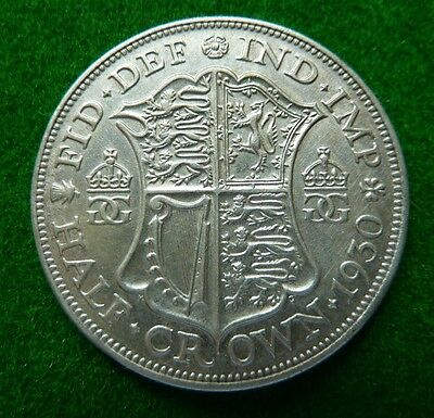 1930 George V  Halfcrown - Vf+ - Scarce Date