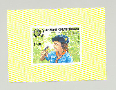 Congo #735 Girl Guides, Scouts, Birds 1v Imperf S/S from set