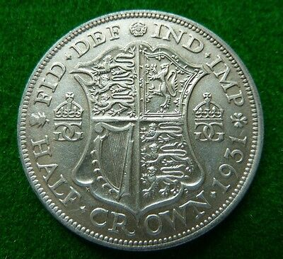 1931 George V  Halfcrown - Aef