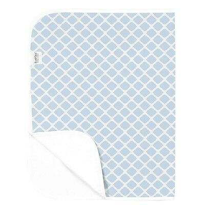 Kushies Waterproof Change Pad - Blue Lattice