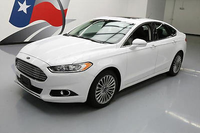 2016 Ford Fusion  2016 FORD FUSION TITANIUM ECOBOOST SUNROOF LEATHER 40K #308606 Texas Direct Auto