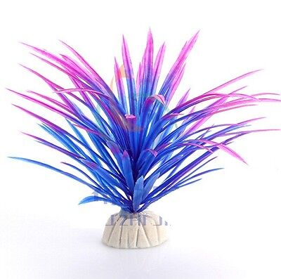 Cute Purple Grass Fish Tank Aquatic Simulation Plant Ornament Decor