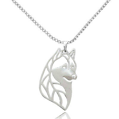 Alaskan malamute siberian husky pendant necklace dog collectible 3D Head