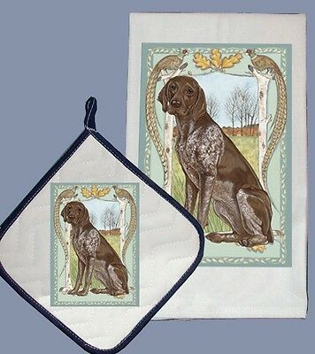 Dish Towel & Pot Holder - German Shorthaired Pointer Field DP951