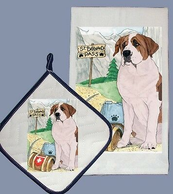 Dish Towel & Pot Holder - Saint Bernard DP924