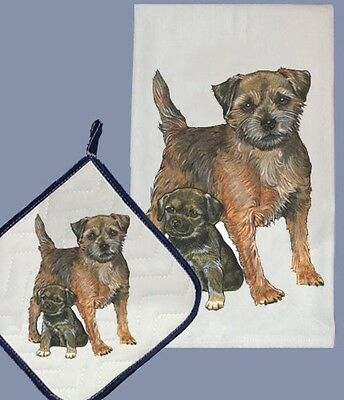 Dish Towel & Pot Holder - Border Terrier DP511
