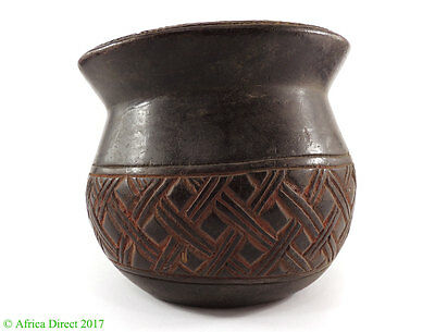 Kuba Cup Wood Bowl Congo African Art  SALE WAS $95