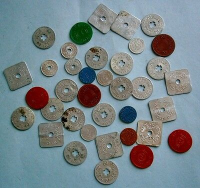 Lot of Vintage Colorado Sales Tax Tokens from the early 1900's