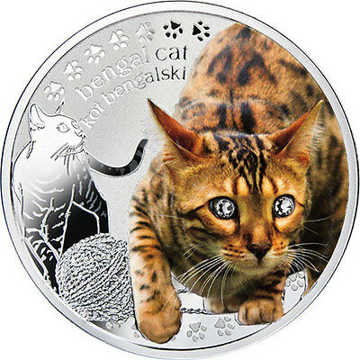 Niue 2014 1$ Bengal Cat Man's Best Friends – Cats Proof Silver Coin