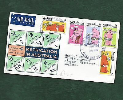 Australia 1973 Metrication set on illustrated Official FDC
