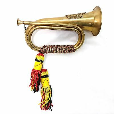 Brass Military Bugle Horn Marching Band with Braid