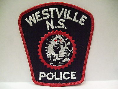 police patch  WESTVILLE N.S. POLICE NOVA SCOTIA  CANADA