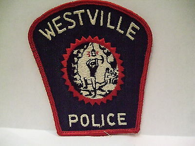 police patch  WESTVILLE N.S. POLICE NOVA SCOTIA  CANADA   THIN LETTERING