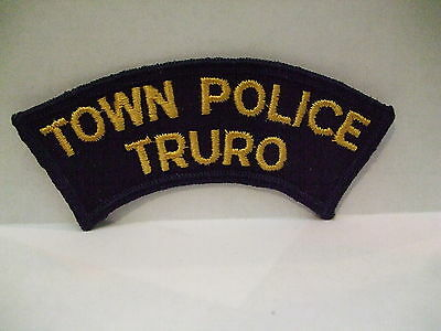 police patch  TOWN POLICE TRURO NOVA SCOTIA  CANADA OLD STYLE ROCKER
