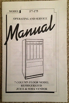 New Antares - Edina Snack Vending Machine -Original 7 Col Service Manual F7-175