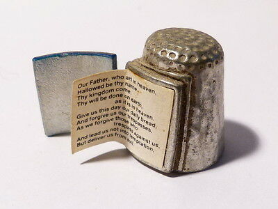 Vintage Holy Bible 'The Lords Prayer' Opening Thimble