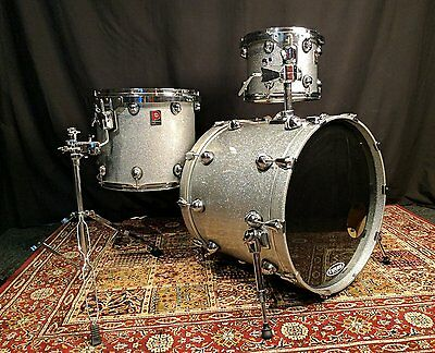 Premier Genista 3pc Shell Pack – Silver Sparkle Lacquer – Pre-owned