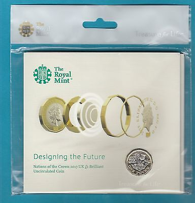 ROYAL MINT 2017, NEW 12 SIDED U.K £1 COIN...brilliant uncirculated