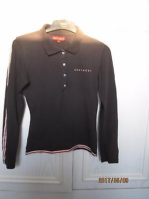 Kentucky Black Long Sleeved Polo Shirt Size XS