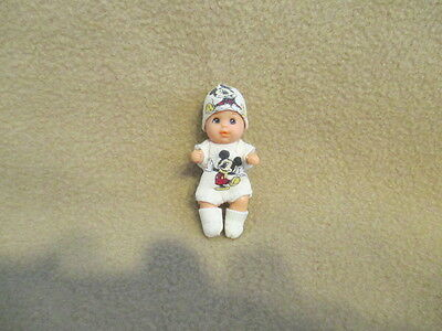Vintage Barbie Baby Krissy Brown Hair Ooak Mickey Mouse Clothes Collectible Set