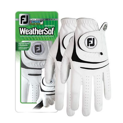 New FootJoy WeatherSof 2-Pack Women's Golf Gloves - Value Pack - Select Size