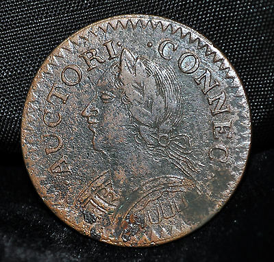 1787 Connecticut Copper, Laughing Head, CONNEC, INDE
