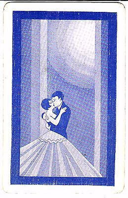 "DECO COUPLE ""THE KISS""   Single Vintage Swap/Playing Card"