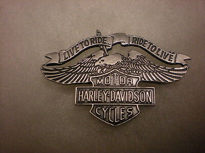 Great Harley Davidson*** Live To Ride Ride To Live ***old School Classic   Pin