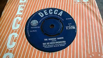 "The Joe Meek Orchestra - The Kennedy March Uk 7"" Decca  1963"