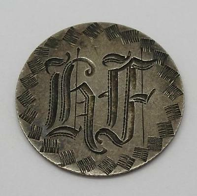 ***USA 1875 Seated Dime Silver Engraved Love Token Coin Victorian period***