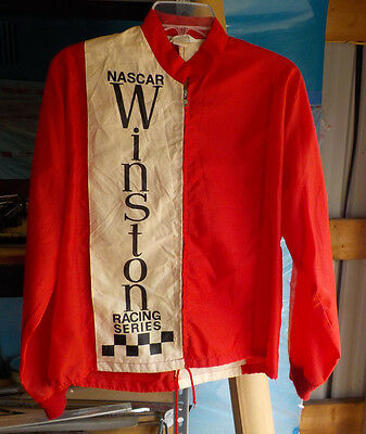 Vintage 60s 70s NASCAR WINSTON RACING SERIES red jacket medium